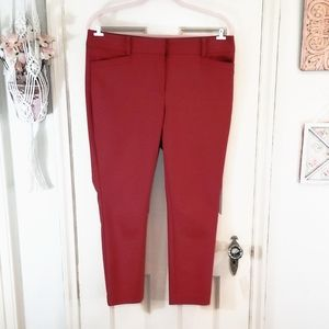 LOFT Red Petite Skinny Pants